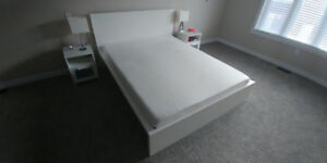 Malm Queen White Bed Frame