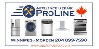 ★★★Appliance Repair & Installation ProLine in Winnipeg★★★