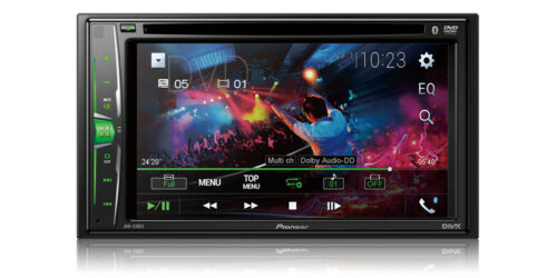 "NEW Pioneer Double 2 Din AVH-220EX DVD/MP3/CD Player 6.2"" Touchscreen Bluetooth"
