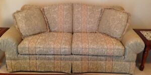 Beautiful Sage green/beige sofa for sale