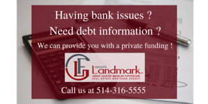Having bank issues ? Need debt informations ?
