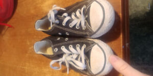 Black Converse Boys shoes. Gently used.