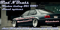 Tint'N'Beats Offer Tinting service starting at 120$ per car! WOW