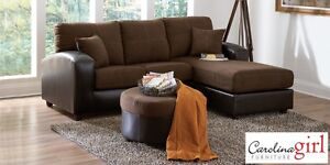 Brand NEW Flat Suede Chocolate Sectional! Call 902-892-8063!