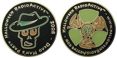 Arizona 2006 Halloween RadioActive Glow in the Dark Skull Geocoin Challenge Coin