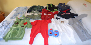 Size 12 month boys hoodies, sleepers, slippers and bathrobe