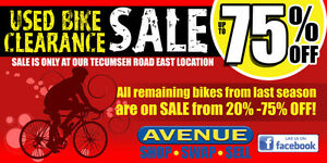 BIKE CLEARANCE SALE up to 75% OFF !!!!