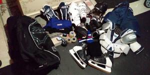 Mens XL hockey equipment set-obo
