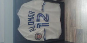 Signed Roberto Alomar Blue Jays Jersey in Shadow box.