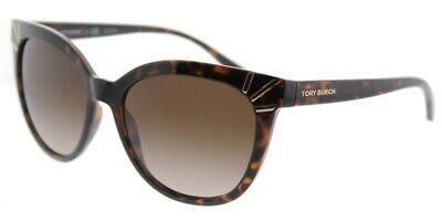 TORY BURCH Cat Eye TY 9051 137813 Dark Tortoise Brown Gold Sunglasses (Tory Burch Metal Cat Eye Sunglasses)