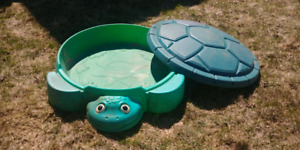 Free turtle sandbox with cover