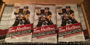 "Tim Hortons cards ""Un- Open"" and full base set"