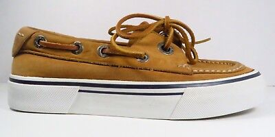 G.H.Bass & Co. Moc Toe Boat Shoes Tan Colored in Size 5M (Youth) (Bass Boat Schuhe)