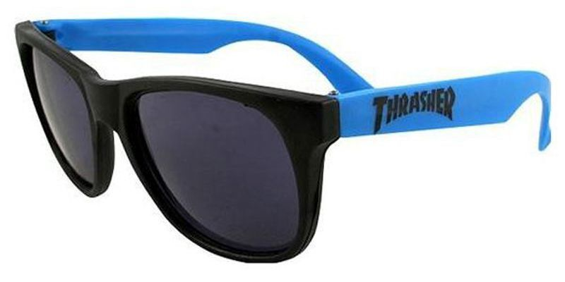 Thrasher Magazine BEER GOGGLES Skateboard Sunglasses BLUE