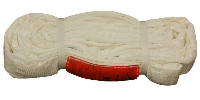 18Ft Endless White Round Sling 17000LB Vertical
