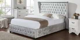 BRAND NEW CRUSHED VELVET Double WING BED!!