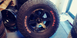37x12.50R18 General Grabber and Fuel Wheels