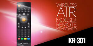 MyGica KR-301 Wireless Air Mouse+ Keyboard with KODI / Netflix Shortcut. Remote works with MyGica,PC,Android,Mac devices