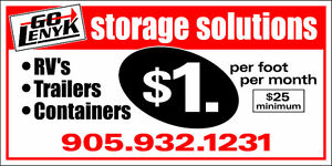 $1/Ft Outdoor Storage: Campers, Trailer's, RV's, Vehicles etc