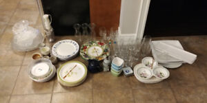 Selling various Plates and Cups and more..