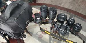 Nikon D7500 Body,  5 Lenses, Flashlight, Remote,Bag - $2,300