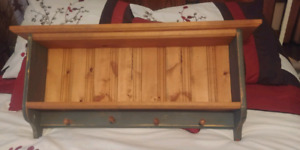 Pine Display shelf with pegs