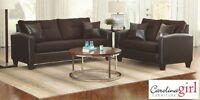 Brand San Marino Brown Sofa Set! Call 506-634-1010!