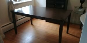 Aran Dining Table - Dark Walnut