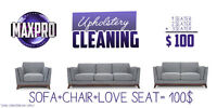 Upholstery Cleaning, Sofa and Chair only 69.99$