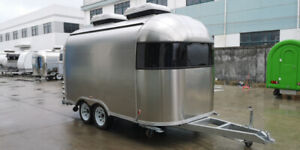 Stainless Steel Mobile Concession Food Trailer Burger  Catering
