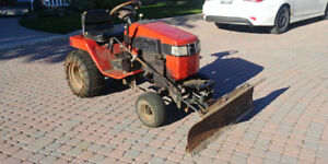 Ariens 18hp tractor with plow and mower deck. Briggs & Strattonn