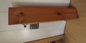 Pine Shelf for wall.  Almost 4' long.