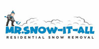 CALL NOW! Mr. Snow-It-All | Residential Snow Removal
