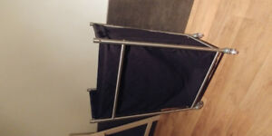 Ikea laundry basket with wheels and metal base