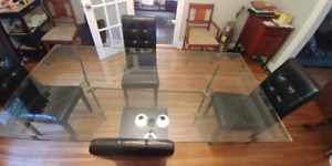 Glass Dining Room Table and Chairs