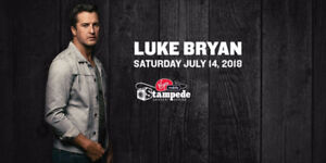 Luke Bryan CALGARY STAMPEDE Tickets * Huge Selection!