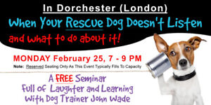 FREE Seminar - When Your Rescue Dog Doesn't Listen & What To Do