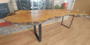Live edge birdseye coffee table