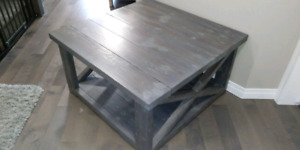 New Rustic Coffee Table with 2 End Tables set $500