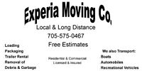 """EXPERIA MOVING CO. LOWEST RATES & RELIABLE SERVICE"""