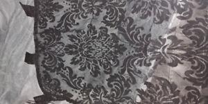Black sheer curtain set
