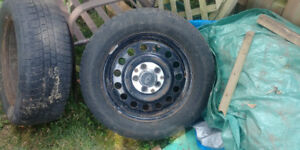 Winter rims with tires (215/60R16/99H) $100 OBO