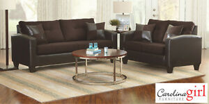 Brand NEW San Marino Brown Sofa Set! Call 613-247-3300!