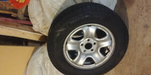 4 New tires with rims of a honda crv