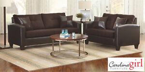 Brand NEW San Marino Brown Sofa Set! Call 204-726-3499!