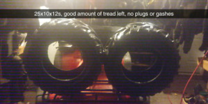 25 and 26 inch ATV tires for 12 inch rims