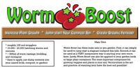 Worm Boost - worm farm starter kit, compost/raised bed booster
