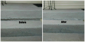 Concrete stairs repairs