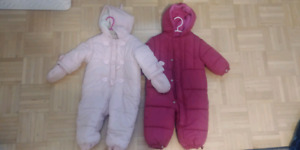 Girls snowsuits