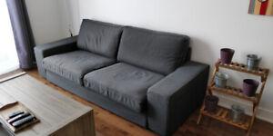Canapé 3 places KIVIK gris foncé